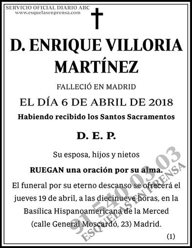 Enrique Villoria Martínez